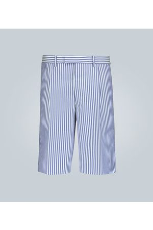 Prada Striped cotton shorts