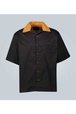 Prada Contrast stitch polo shirt