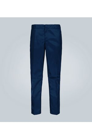Prada Technical fabric pants with logo