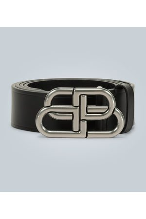 Balenciaga Heren Riemen - BB large leather belt
