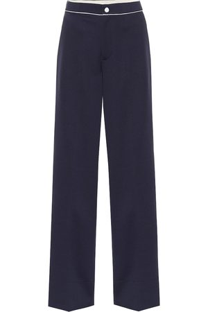 Moncler High-rise wide-leg trackpants