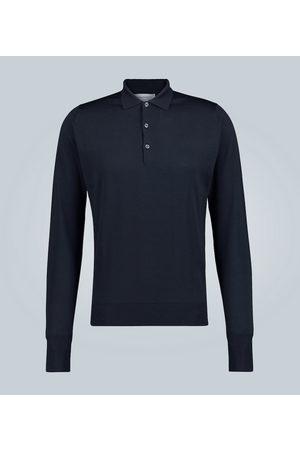 JOHN SMEDLEY Wool long-sleeved polo shirt