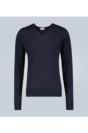 JOHN SMEDLEY Wool V-neck sweater