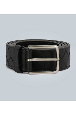 Bottega Veneta Leather belt with intreccio weave motif