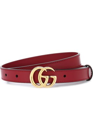 Gucci Dames Riemen - GG leather belt