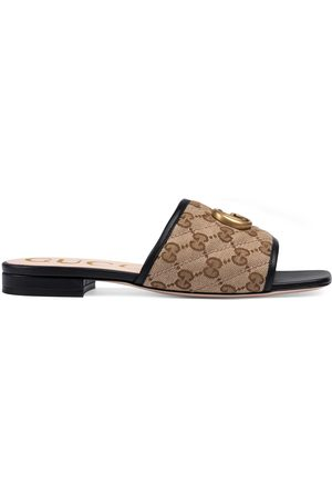 Gucci Women's GG matelassé canvas slide sandal
