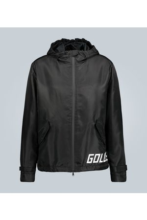 Golden Goose Hooded technical jacket with logo