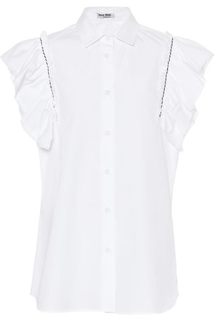 Miu Miu Cotton-poplin shirt