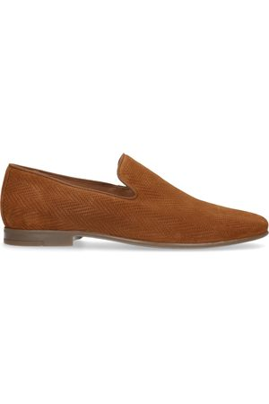 Manfield Heren Loafers - Cognac suède loafers