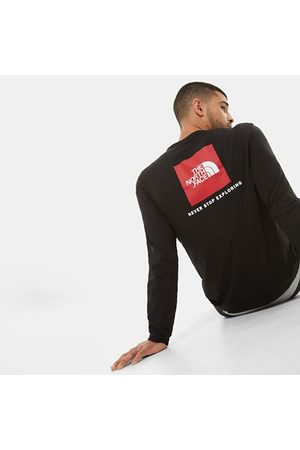 TheNorthFace Heren Lange mouw - The North Face Red Box-t-shirt Met Lange Mouwen Voor Heren Tnf Black Größe L Men