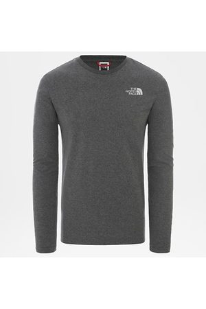 TheNorthFace Heren Lange mouw - The North Face Easy T-shirt Met Lange Mouwen Voor Heren Tnf Medium Grey Heather Größe L Men