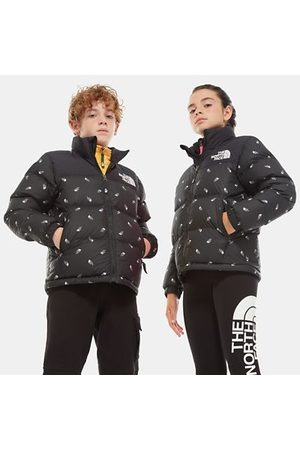 TheNorthFace The North Face 1996 Retro Nuptse-donsjas Voor Jongeren Tnf Black Tossed Logo Print Größe S Men