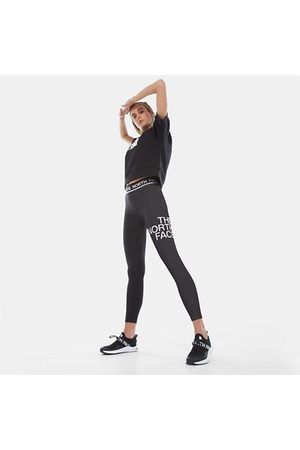 The North Face The North Face Flex-legging Met Middelhoge Taille Voor Dames Tnf Black/tnf White Größe XS Dame