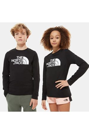 TheNorthFace The North Face Easy T-shirt Met Lange Mouwen Voor Jongeren Tnf Black/tnf White Größe L Unisex
