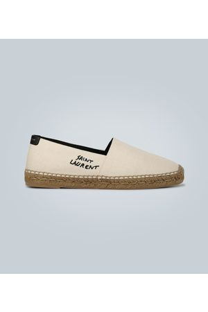 Saint Laurent Embroidered logo canvas espadrilles