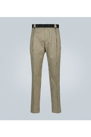 Dolce & Gabbana Striped cotton and silk-blend pants