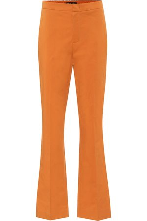 Loro Piana High-rise flared cotton pants