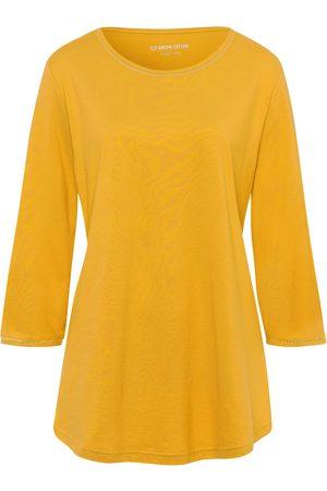 Green Cotton Dames Lange mouw - Shirt van 100% katoen met 3/4-mouwen Van
