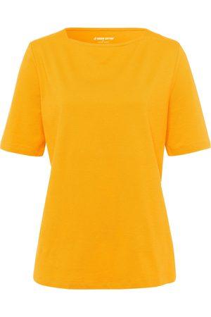 Green Cotton Dames Shirts - T-shirt van 100% katoen met boothals Van