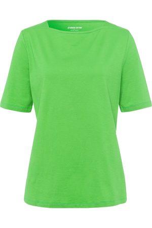 Green Cotton T-shirt van 100% katoen met boothals Van