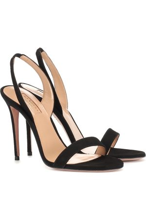Aquazzura So Nude 105 suede sandals