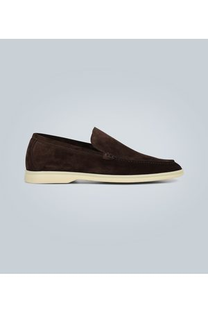 Loro Piana Summer Walk suede laofers