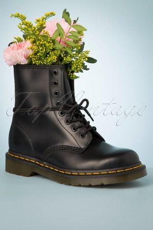 Dr. Martens Dames Enkellaarzen - 1460 Smooth Ankle Boots in Black