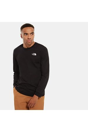 The North Face The North Face Simple Dome T-shirt Met Lange Mouwen Voor Heren Tnf Black Größe XXL Men