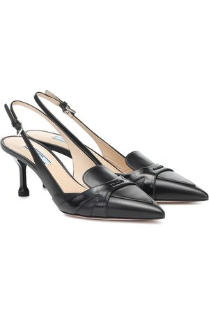 Prada Leather slingback pumps
