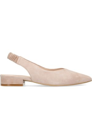 Manfield Dames Loafers - Suède loafers met slingback