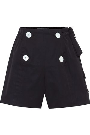 Prada High-rise cotton shorts