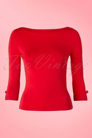 Banned Retro Dames Blouses - 50s Modern Love Top in Red