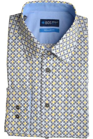 Bos Bright Blue Willem Shirt Casual Hbd 20107WI08BO/290 navy