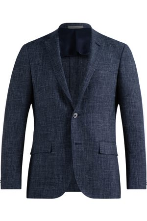 corneliani Heren Pakken - Pak Heren Navy Wool Silk Linen