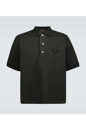 Prada Jersey polo with tonal logo