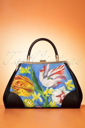 Woody Ellen 50s Ladybug Handbag in Blue