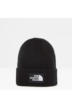 The North Face The North Face Omgeslagen Beanie Met Vierkant Tnf-logo Tnf Black Größe One Size Normaal Dame