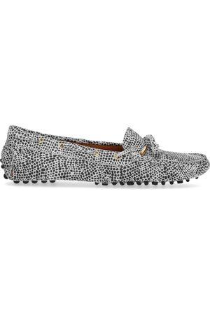Manfield x Annic Cheetah suède loafers