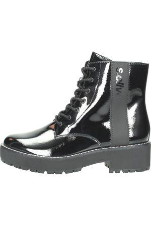 s.Oliver Chunky Boots Zwartlak - Lak