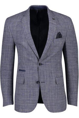 Carl Gross Heren Blazers & Colberts - Blauw geruit slim fit