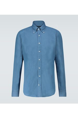 Thom Sweeney Cotton chambray long-sleeved shirt