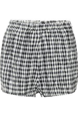 Khaite Exclusive to Mytheresa – Hilary high-rise gingham shorts