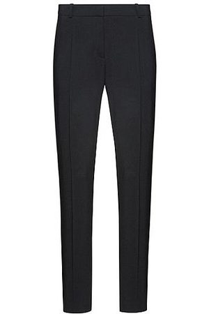 HUGO BOSS Regular-fit broek van stretchwol