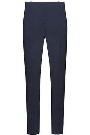 HUGO BOSS Dames Pantalons - Regular-fit broek van stretchwol