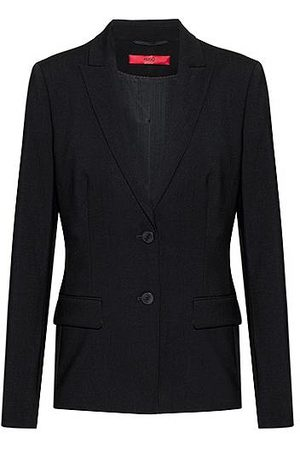 HUGO BOSS Regular-fit blazer van stretchwol