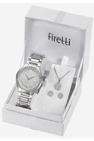 Firetti Kwartshorloge »TLA-91304-Set« (5-dlg., horloge met oorstekers en ketting met karabijnhanger)