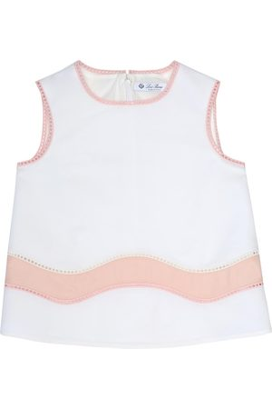 Loro Piana Aura embellished cotton-blend top