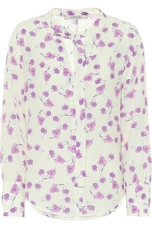Dorothee Schumacher Radiant Leaves silk-blend blouse