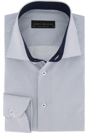 john miller Tailored Fit overhemd blauw patroon