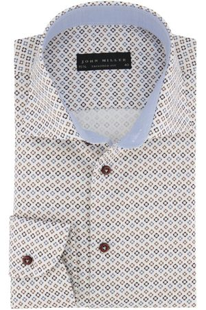 john miller Heren Overhemden - Overhemd Tailored Fit print